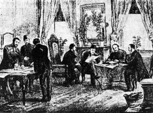 Η υπογραφή της Συνθήκης του Αγίου Στεφάνου. Μια Συνθήκη που δεν εφαρμόστηκε ποτέ. Στο Βερολίνο έγινε η μεγάλη μοιρασιά